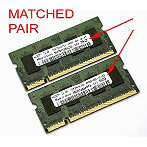 SAMSUNG M470T5663QZ3-CE6 2GB DDR2 PC2-5300 CL5 1.8V256MBX64 128X8 8K 200P SODIMM