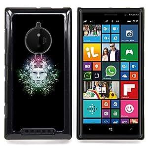 Sci Fi Head Caja protectora de pl??stico duro Dise?¡Àado King Case For Nokia Lumia 830