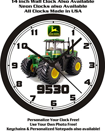 JOHN DEERE 9530 TRACTOR WALL CLOCK-FREE USA SHIP!