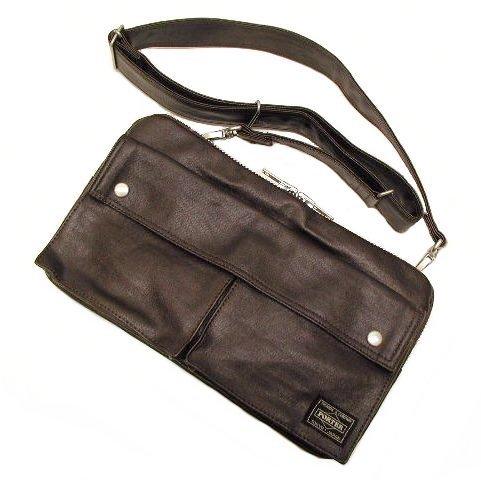 Yoshida Bag Porter Freestyle Shoulder Bag Brown 707-07144 by Yoshida Bag