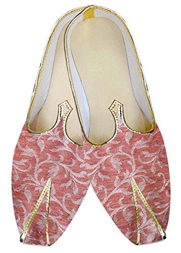 INMONARCH Brocado Rosa Hombres Zapatos de Boda MJ3201