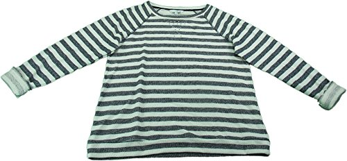 Ellen Tracy Company Ladies Large Embellished Sweatshirt (Navy Stripe )