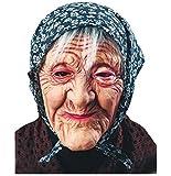 Masque Vieille Femme avec Foulard - Mamie Costume Déguisement - 579