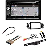 Jensen VX7023 A/V Receiver w/DVD | Built-in NAV | Built-in Bluetooth with Dash kit Fits Ford F-150 2004-2006 Double DIN Stereo Harness Radio Install Dash Kit/Rearview Camera