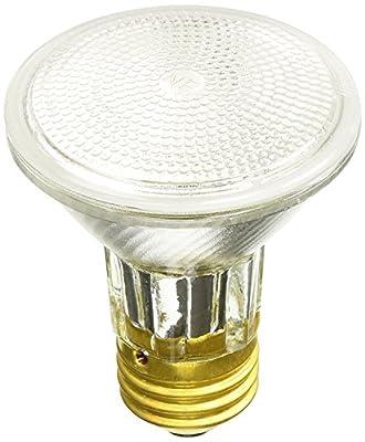 Sylvania 15908 50 Watt PAR20 Narrow Flood Light Bulb 30 Degree Beam Spread 120 Volt Dimmable 2850 Warm White - 10 Pack