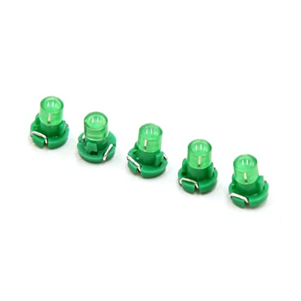 sourcing map 5pcs 12V Bombillas T3 LED Verde Cuña Luces para Panel Tablero de Instrumentos Auto