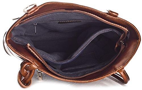 mochila como rojo con para Libby negro Italiana cordoncillo LiaTalia en damas Sin Lujoso o detalle llevar el Piel en Tubería legítima de para z bolso hombro hecho wwz4H