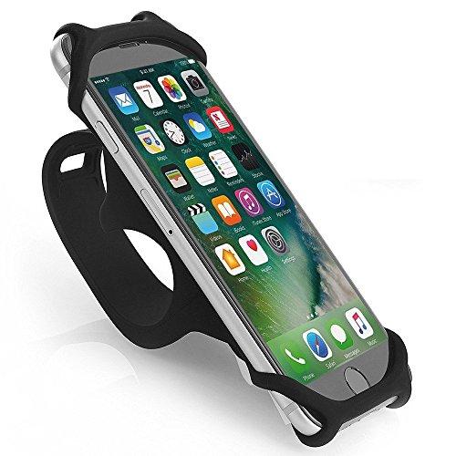 Bicicleta soporte para teléfono, jemache Universal Silicona para moto/Soporte Para Manillar De Bicicleta Para iPhone X 6 6S 7 8 Plus, Samsung Galaxy S7 ...