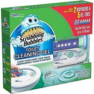 Scrubbing Bubbles Toilet Gel, Rainshower (2 dispensers + 30 Gel Discs), Pack of 2