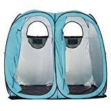 Quictent 2019 Upgraded Oversize 2 Room Pop Up Automatic Rod Bracket Shower Tent/Changing/Toilet Room Camping Privacy Shelter Camping Outdoor Waterproof Anti-UV with Carry Bag