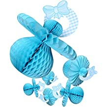 Baby Shower Decoraciones–6piezas tabla de chupete Baby Shower centerpieces Hanging D? Cor Suministros para fiestas por juvale, Azul