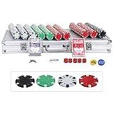 Nova Microdermabrasion Poker Chips Set Texas Holdem, Blackjack, Gambling 500 Dice Casino Chips 11.5 Gram Aluminum Case