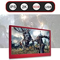 13.3 Inch 2K HDMI USB Portable HDR Monitor With Wall Mount Speaker For PS3 PS4 XBOX NS Gaming Display PC Laptop