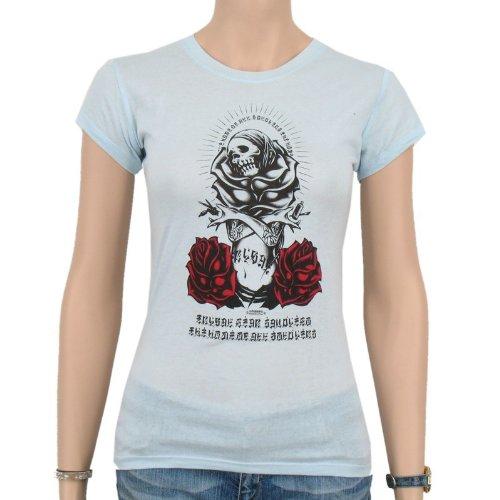 Tribal–Planet Scoop T-shirt Femme, Bleu Clair