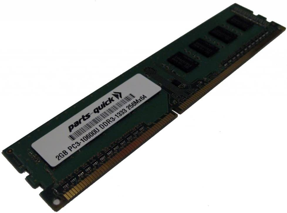 PARTS-QUICK Brand 2GB Memory Upgrade for Gigabyte GA-H61M-S2P-B3 Motherboard DDR3 PC3-10600 1333MHz DIMM Non-ECC Desktop RAM