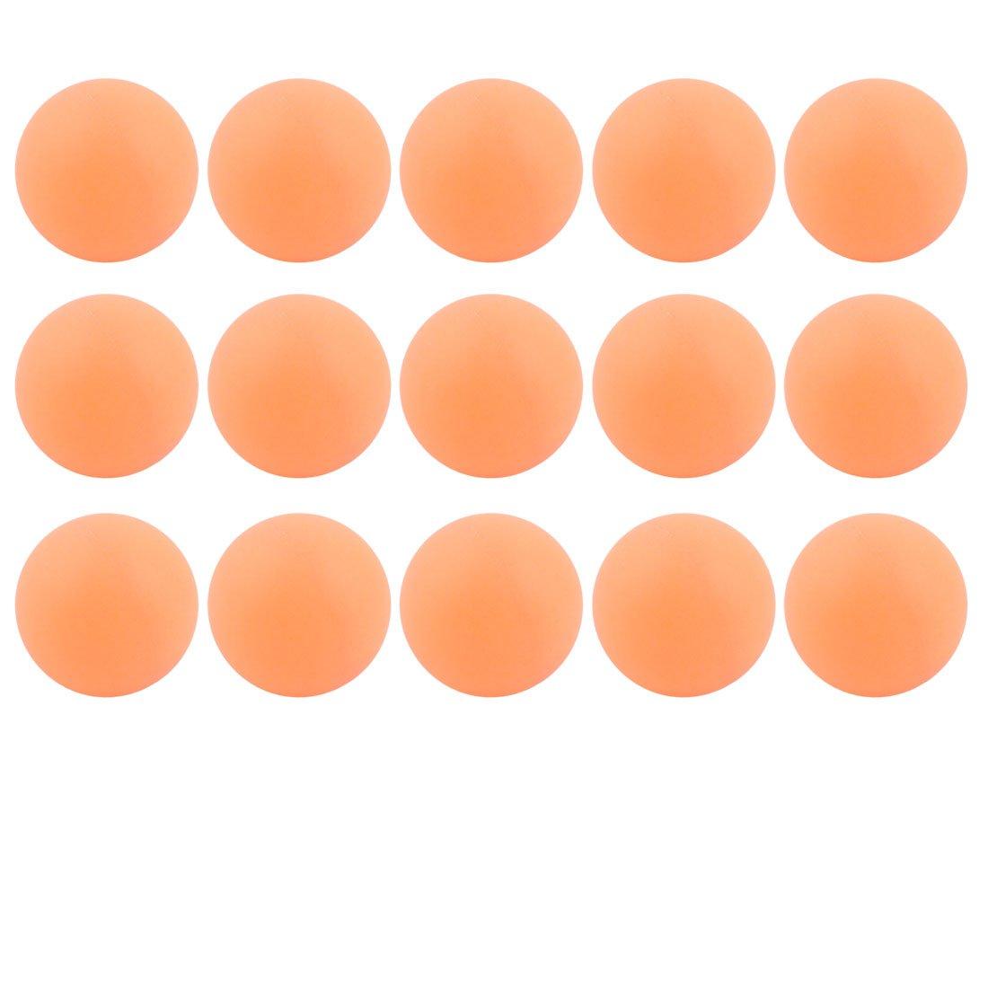 Uxcell RecreationalレジャーテーブルテニストレーニングPing Pong Ballsオレンジ15個   B01A8L8SFY