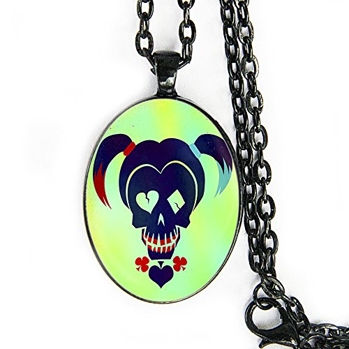 Harley Quinn Oval Pendant Necklace - Suicide Squad / SKWAD - HM