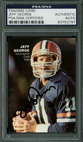 Amazoncom Colts Jeff George Signed Trading Card