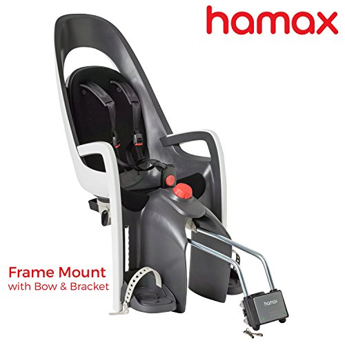 Buy Bargain Hamax Caress Child Bike Seat, Ultra-Shock Absorbing Frame or Rack Rear Mount, Adjustable to Fit Baby Through Toddler 9 mo – 48.5 lb. 35-Year Award Winning European Brand.