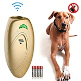 Ina Ella Ultrasonic Dog Barking Control Devices Anti Barking Device Dog Training Aid Handheld Dog Bark Trainer Stop Barking for Walk a Dog Outdoor with Wrist Strap