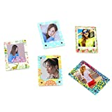 Ngaantyun Acrylic 3inch Magnetic Refrigerator Picture Photo Frame for Fujifilm Instax Mini Films/Pack of 5pcs