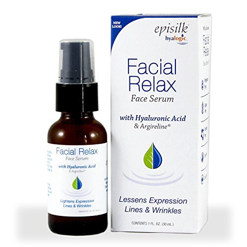 Hyalogic Episilk Facial Relax Serum - 1 Bottle (1 fl. oz) - With Hyaluronic Acid - Helps Lessen Expression Lines + Wrinkles - Premium Anti Aging Skin Care Products