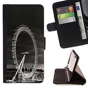 For Samsung Galaxy S6 EDGE (NOT S6) Plus / S6 Edge+ G928 Case , Arquitectura de Londres Visualización de ruedas- la tarjeta de Crédito Slots PU Funda de cuero Monedero caso cubierta de piel