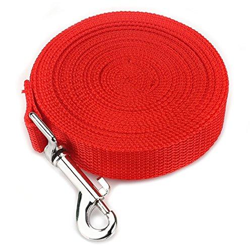 Fetoo Leine Hundehalsband Welpenleinen Führleinen 4 Farben 5 Größen (9M, Rot)