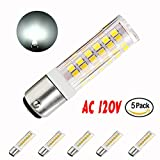 McDen Dimmable Ba15d 6W Double Contact Bayonet Base LED Bulb 120 Volts JD Type Ba15d 50W T4 Halogen Replacement Bulb for Chandelier Crystal Ceiling Lamp Light Daylight White 6000K