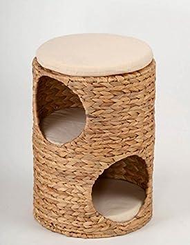 Torre de doble cueva para gatos de jacinto de agua para dormir, con 3 cojines: Amazon.es: Productos para mascotas