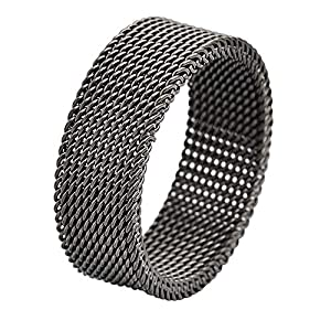 Best Epic Trends 51BxbzyDkOL._SS300_ Geoffrey Beene Stainless Steel Men's Comfort Fit Mesh Ring