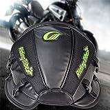KaTur Motorcycle Backseat Tank Bag Multifunctional Waterproof PU Leather Storage Saddle Bag Motorbike Rear Seat Super Light Tail Accessories Bags -Black