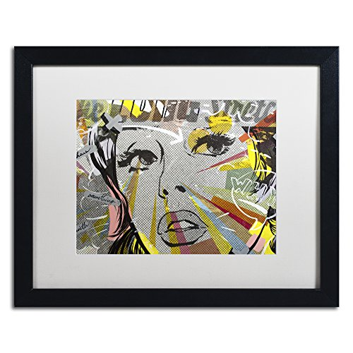 "picture of Trademark Fine Art The Long Stretch Framed Artwork by Dan Monteavaro, 16 by 20"", White Matte/Black Frame"