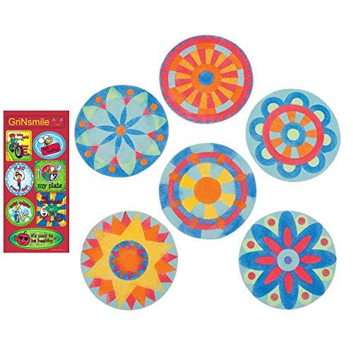 (GnS Beautiful Mandala Sand Art Pictures - Brilliant Colors - 12 Kits + Free Bonus Sticker)