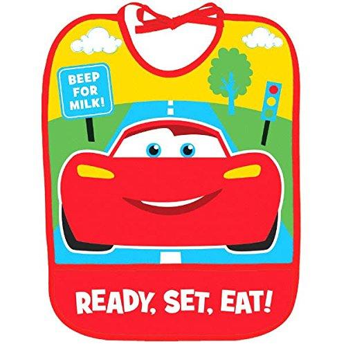 - Amscan Disney Cars 1st Birthday Red Vinyl Baby Bib Party Supplies, 13