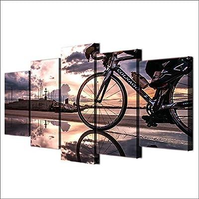 CANPIC HD Impreso 5 Piezas Lienzo Arte Bicicleta Sol Ciclismo ...