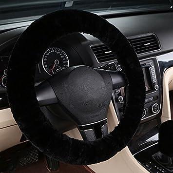 Lenkradbezug Lenkradhülle Aus Wollimitat Lenkradhülle Aus Mikrofaser Luxuszubehör Für Das Auto Warm Für Den Winter Durchmesser 35 43 Cm Auto