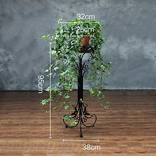 DYFYMXPlant stand European metal multi-color flower stand, garden terrace potted display stand, decorative bonsai pot holder Flower pot rack (Color : 4, Size : 9532cm)