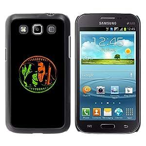 MobileHut / Samsung Galaxy Win I8550 I8552 Grand Quattro / Comics Character Z Hero Villain Black / Delgado Negro Plástico caso cubierta Shell Armor Funda Case Cover