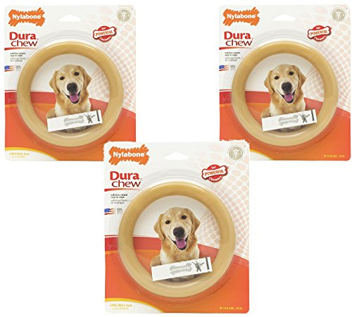 (3 Pack) Nylabone Giant Original Flavored Ring Bone Dog Chew Toy Review