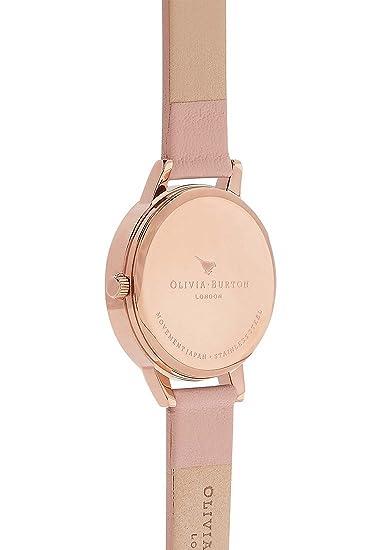 Olivia Burton Reloj Analógico para Mujer de Cuarzo con Correa en Cuero OB16EG56: Amazon.es: Relojes