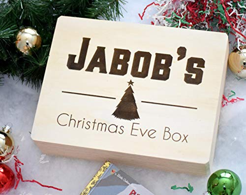 Personalized Christmas Eve Box - Wooden Christmas Eve Box - Engraved Christmas Eve Box - Xmas Eve Box - Xmas Boxes - Christmas Boxes for Children
