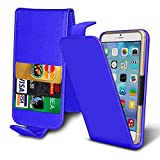 ( Blue 4 inch ) case for Alba 4 2017 Case cover pouch Thin Faux Leather Holdit Spring Clamp Adjustable Flip case cover Skin With Credit/Debit Alba 4 2017 Case by i-Tronixs