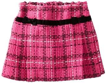 Hartstrings Little Girls' Yarn Dyed Boucle Plaid Skort, Fuchsia/Black Plaid, 2T