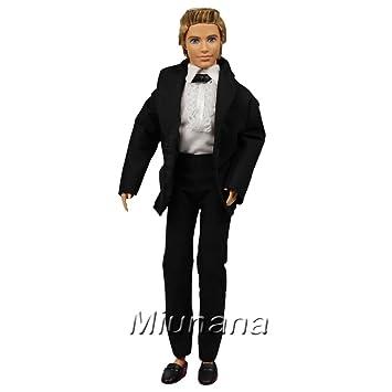 fe82efc2597d90 Miunana Set 3 Stück Hochzeits Formales Anzug Hemd Hose Kleid Kleidung  Kleider für Barbie Puppen KEN