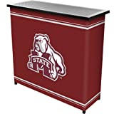 Trademark Gameroom NCAA Mississippi State University Two Shelf Portable Bar with Case