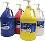 Sax Versatemp Heavy-Bodied Tempera Paints with Pumps, Assorted Colors, Set of 4 Gallons