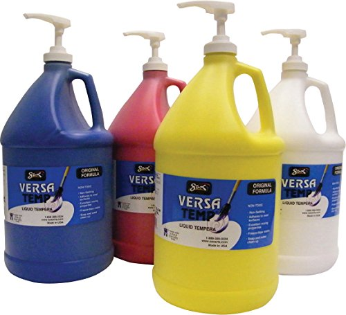 Sax Versatemp Non-Toxic Tempera Paint Kit, 1 gal, Assorted C