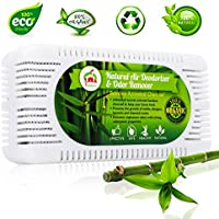 Natural Air Deodorizer and Odor Remover - Activated Bamboo Charcoal Odor Absorber and Home Air Purifier - Charcoal Odor Eliminator for Car and Shoes - Effective Fridge and Closet Freshener