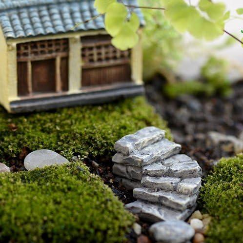 benbroo Micro paisaje decoraciones resina mini escalera Jardín Decoración para parque patio cubierta Patio jardín casa camino, Bend: Amazon.es: Jardín